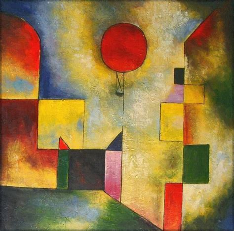 shower curtain balloon painting by paul klee