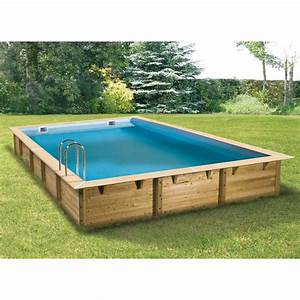 realisation piscine bois rectangulaire With piscine hors sol bois rectangulaire 3m