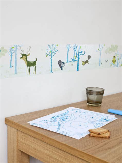 papier peint chambre bébé mixte frise adhésive décoration chambre garçon la forêt