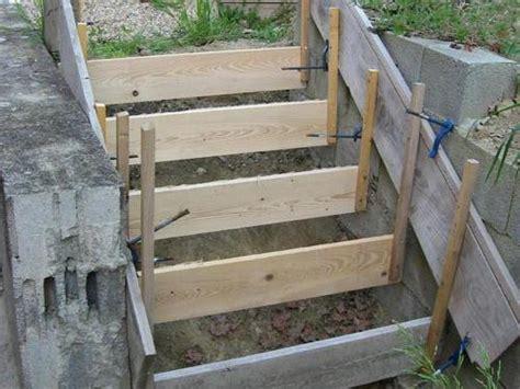comment faire un escalier en beton comment r 233 aliser les fondations d un escalier en b 233 ton