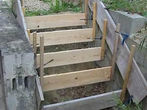 comment realiser les fondations d39un escalier en beton With comment faire un escalier en beton exterieur