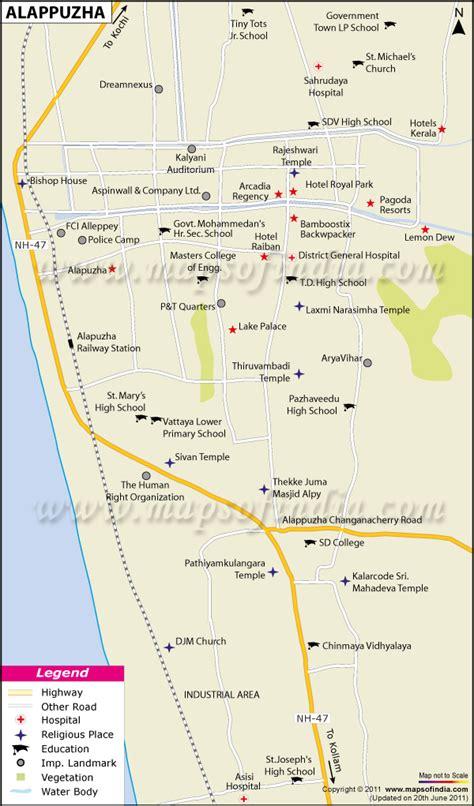 alappuzha city map