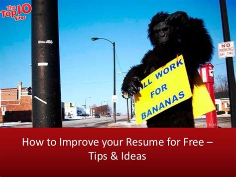 How To Improve Your Resume by How To Improve Your Resume For Free