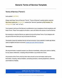 terms and conditions templates to write polices for your With free terms and conditions template for services