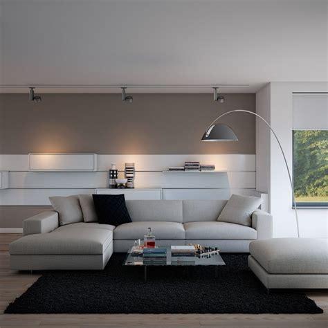 canapé de sol déco salon gris avec canapé tout confort 55 idées pour vous