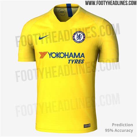 Chelsea Yellow leaked chelsea 2018 19 premier league away kit is yellow