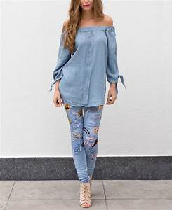 Denim Blouse Strapless | Musthaves For Real