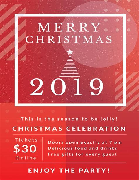 sample christmas poster template   documents