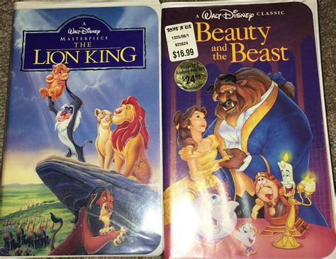 The Lion King Vhs, 1995 & Beauty And The Beast, 1992