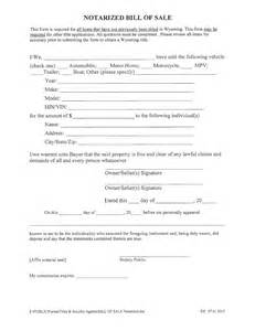 Notarized Boat Bill of Sale Template