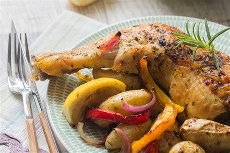 cuisine grecque poulet à la grecque aux rattes du touquet et au citron