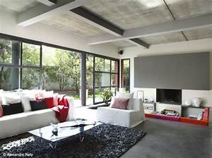 deco interieur salon moderne With amenagement de jardin contemporain 14 vide sur sejour