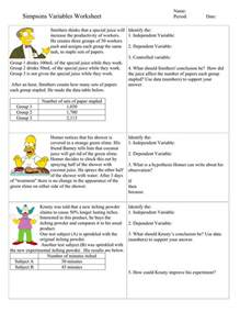 Identifying Independent Variables Worksheet