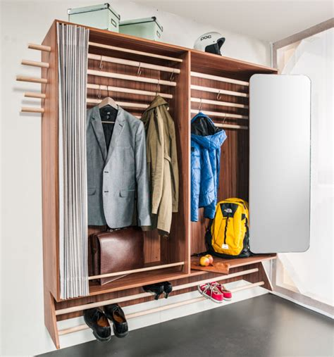 a wardrobe for a narrow hallway living in a shoebox