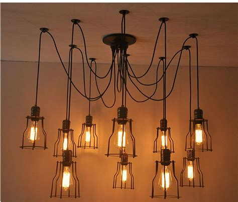 Chandelier Style Ceiling Lights by Vintage Edison Style Industrial Retro Caged Lights