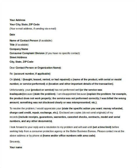 business letter sle reply complaint business letter