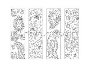 Zentangle Bookmarks Coloring Page