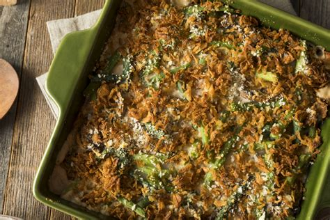 classic green bean casserole  water chestnuts