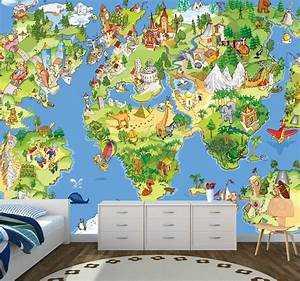 Tapete Weltkarte Kinderzimmer : vlies xxl poster fototapete tapete kinder weltkarte erde ebay ~ Sanjose-hotels-ca.com Haus und Dekorationen