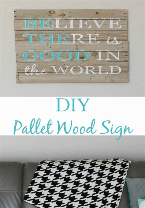 diy pallet sign    good   world