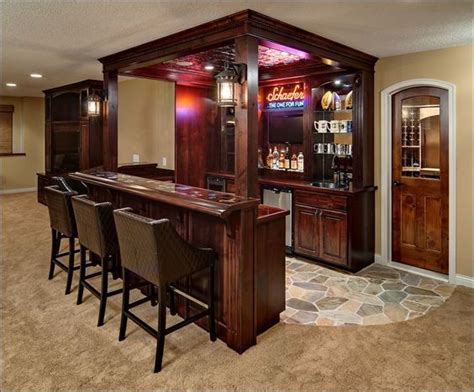 Portable Bars For Basements by Basement Bar But Themed House