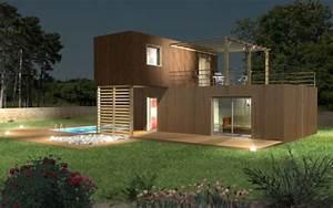 Maison Modulaire Bois : maison modulaire top maison ~ Melissatoandfro.com Idées de Décoration