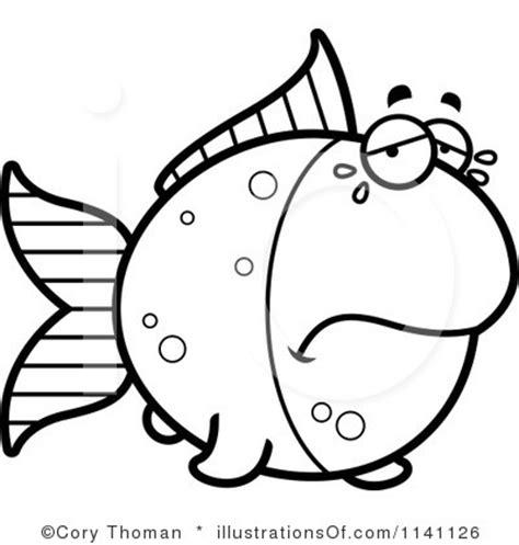 goldfish clipart black and white sad fish clip 21