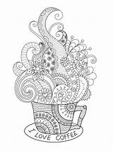 Coffee Coloring Kaffee Mycoloring Ausmalbilder Printable Malvorlagen Zum sketch template