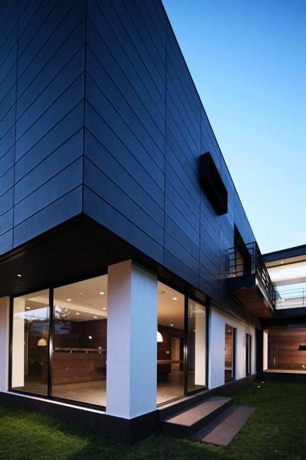 contemporary house design  exterior ceramic panels