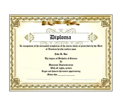 Diploma Template 30 Real Diploma Templates High School College
