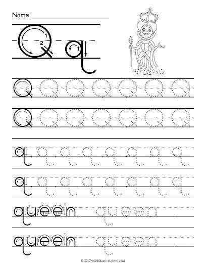 Letter Q Worksheets Homeschooldressagecom
