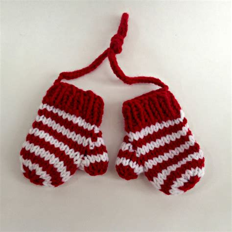 christmas ornament hand knit mittens holiday ornaments