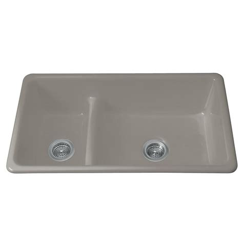 Kohler Smart Divide Apron Sink by Kohler Iron Tones Smart Divide Drop In Undermount Cast