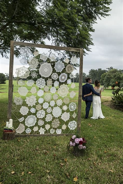 vintage doily wedding backdrop arches alters aisles