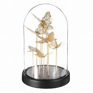 Cloche Verre Deco : cloche en verre avec papillons dor s maisons du monde ~ Teatrodelosmanantiales.com Idées de Décoration