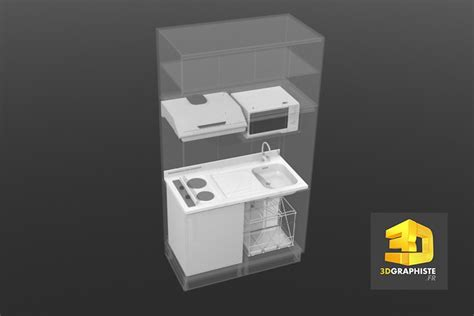 modelisation cuisine animation 3d kitchenette meuble de cuisine 3dgraphiste fr