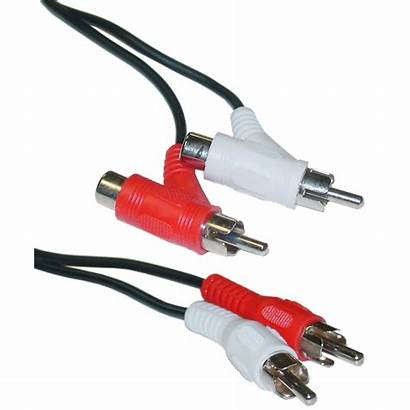 Audio Rca Cable Cables Stereo Splitter Male