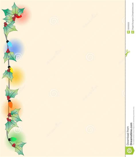 stylish page christmas border page stock photos image 35056503