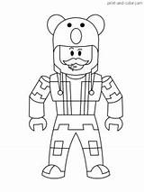Roblox Coloring Printable Colouring Sketch Popular Colorcom Cartoon Boy Pirate Characters Template Templates Larger Credit sketch template
