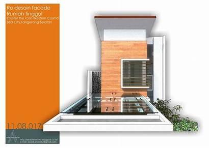 Rumah Facade Desain Kedai Standart Developer Arsitektur