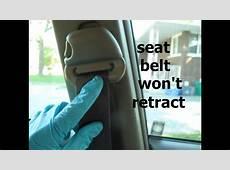 Seat belt won't retract easy fix YouTube