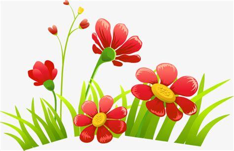 Cartoon Red Flowers, Cartoon Clipart, Cartoon, Gules Png