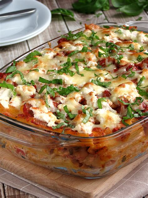 baked ziti with baked ziti with ricotta yummy addiction