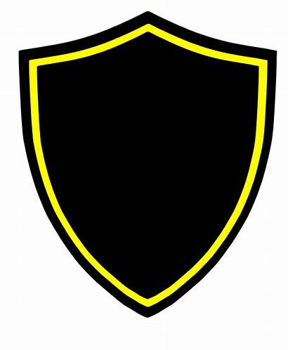 Shield Vector Crest Blank Clipart Clip Shields