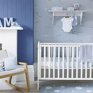 Tapete Babyzimmer Junge : ideen babyzimmer junge mit wandfarbe blau und tapete babyzimmer grau mit vogelmotiv freshouse ~ Watch28wear.com Haus und Dekorationen