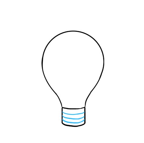 How To Draw A Light Bulb by How To Draw A Light Bulb Really Easy Drawing Tutorial
