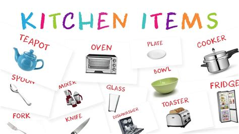 Learn Kitchen Item Names For Kids  Kids Learn About