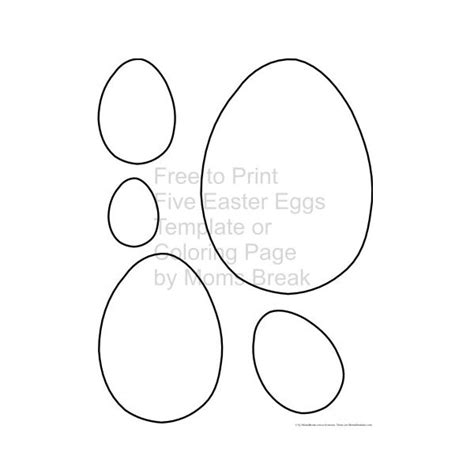 Small Easter Egg Template by Easter Egg Templates For Dtp Projects Available From