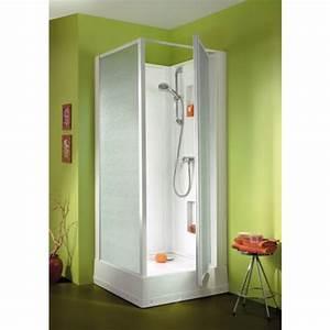 Cabine de douche 90x90 cm acces par porte pivotante for Porte cabine de douche