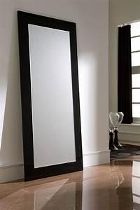 Miroir De Salon : miroir mural blanc ou noir laqu design jenny ~ Teatrodelosmanantiales.com Idées de Décoration